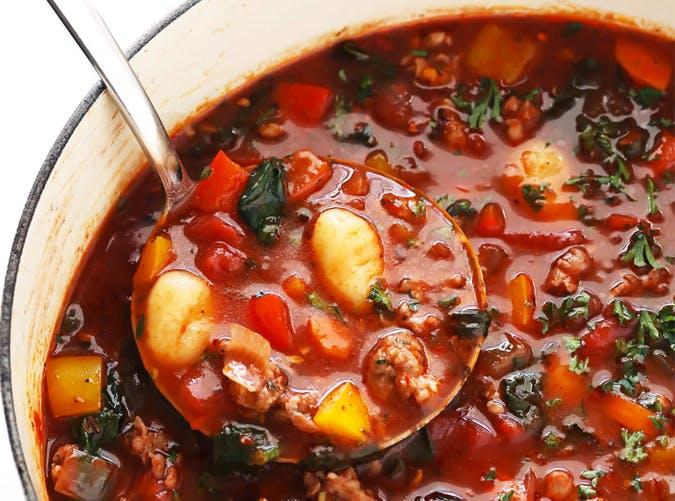 sausage gnocchi tomato soup