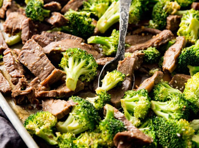 sheet pan beef and broccoli 6