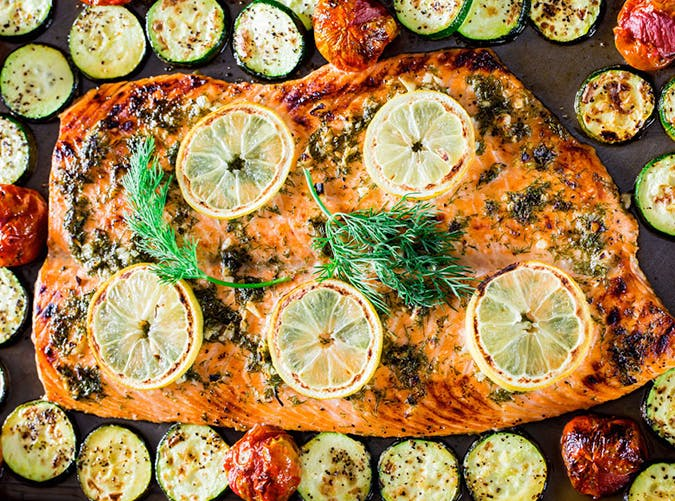 sheet pan honey salmon 7