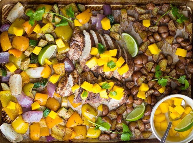 sheet pan jamaican chicken 2