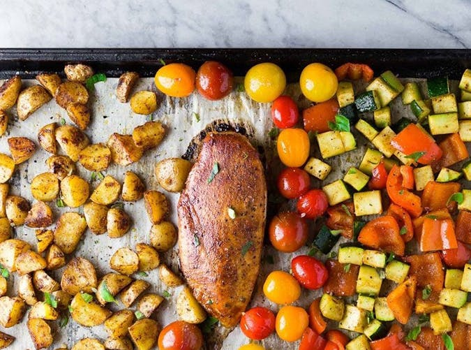sheet pan paprika chicken 15
