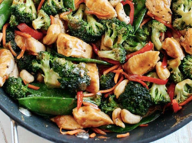 skillet cashew chicken stir fry recipe 501