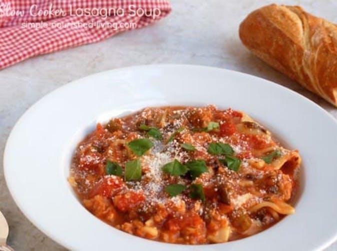 slow cooker lasagna soup under 500 calories