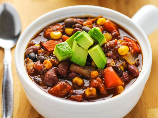 slow cooker skinny vegetarian chili under 500 calories