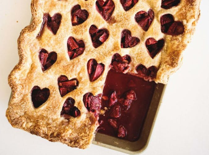 strawberry balsamic slab pie