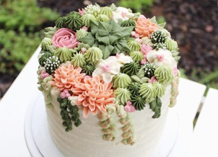 succulent cake wedding trend