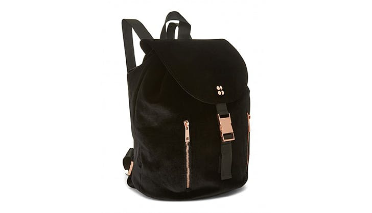 sweaty betty velvet backpack gym bag best fitness gear