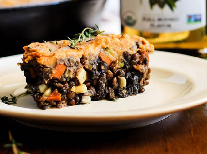 sweet potato shepherds pie vegan gluten free healthy easy dinner fall winter thanksgiving 5