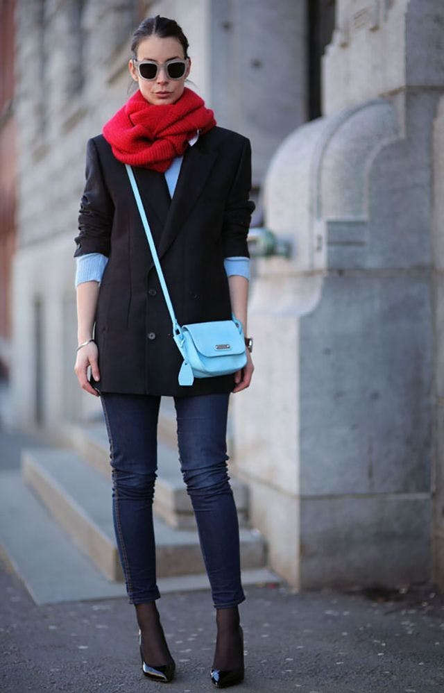 tights under jeans a portable package january winter outfit ideas