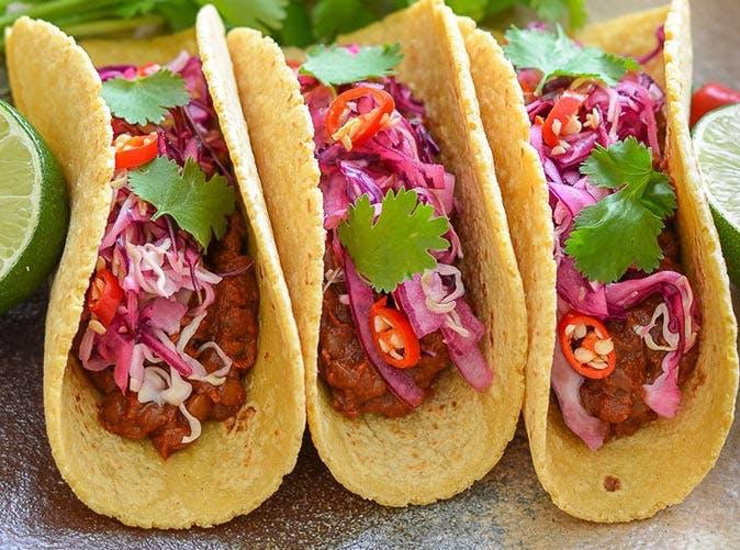 vegan slow cooker enchilada lentil tacos lime slaw