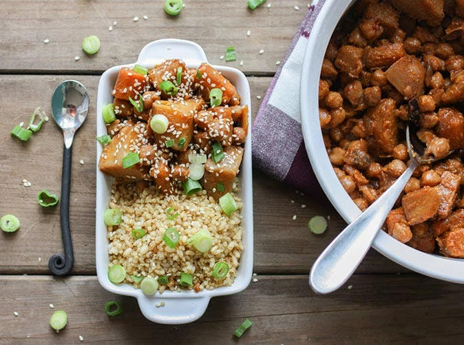 vegan slow cooker korean chickpeas carrots potaoes