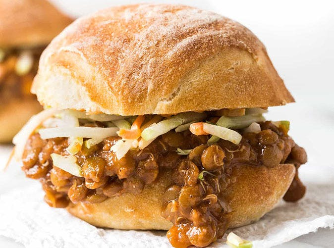 vegan slow cooker lentil sloppy joes