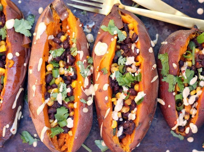 vegan slow cooker sweet potatoes