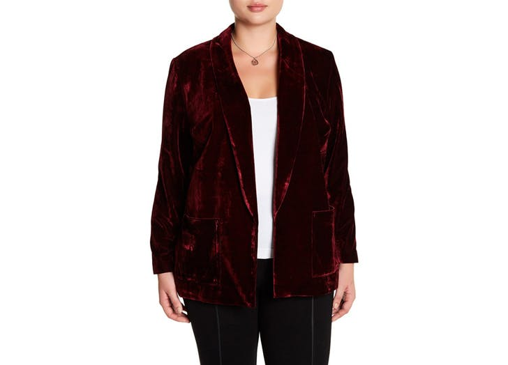velvet blazer holiday outfits NY