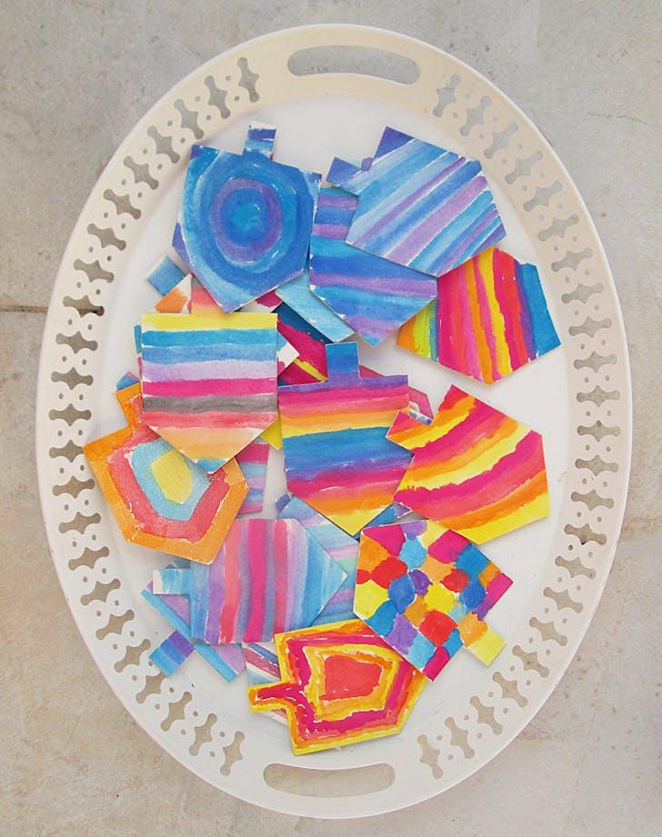 watercolor dreidels
