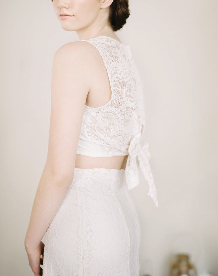 wedding crop top