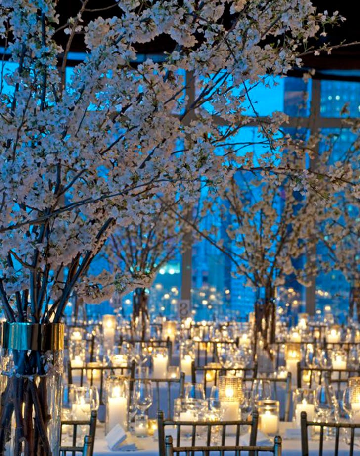 white branches winter wedding decor ideas
