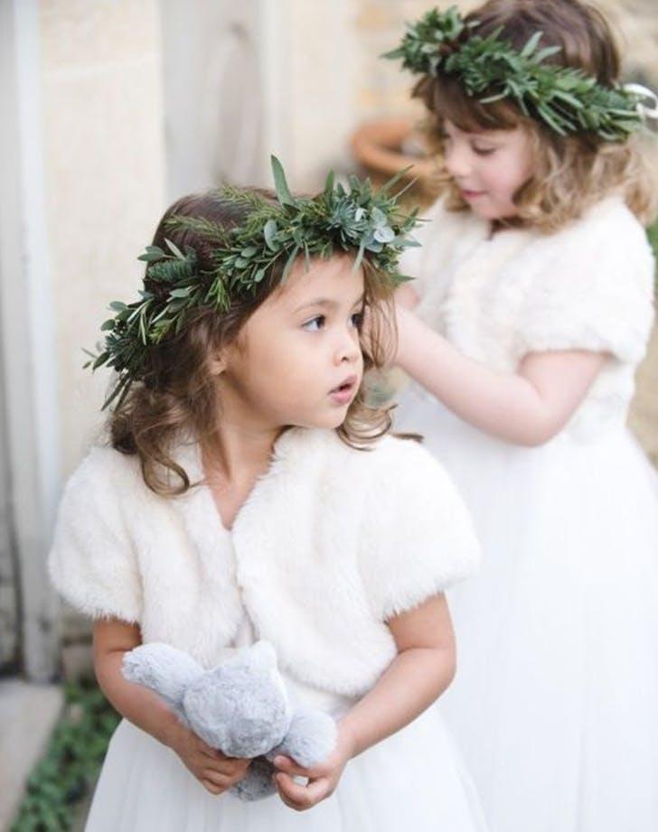 winter wedding flowergirl ideas