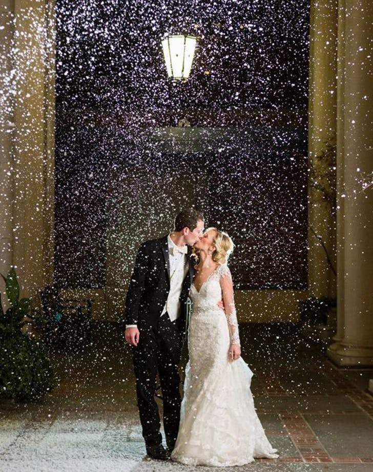 winter wedding snowfall ideas