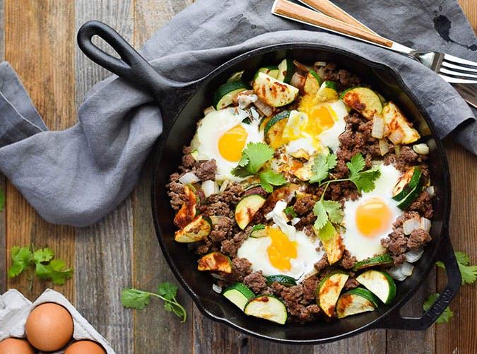 15 min zucchini beef skillet paleo recipe