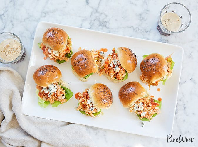 15 minute buffalo chicken sliders