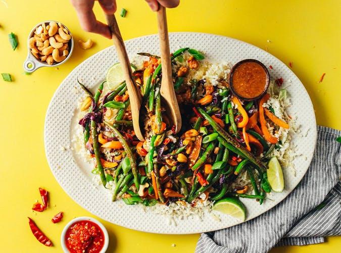 30 Minute Cauliflower Rice Stir Fry macro diet recipes