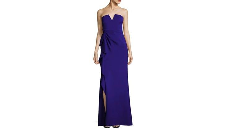 Aidan Mattox Side Ruffle Dress