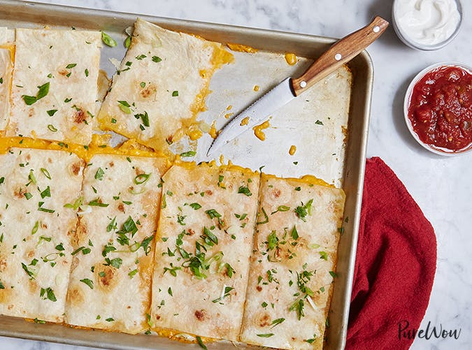 Baking Sheet Quesadillas vegetarian comfort food recipes
