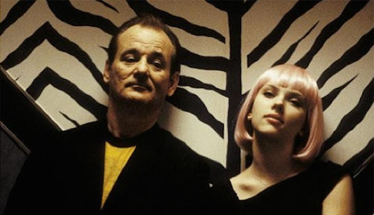 Bill Murray and Scarlet Johansson in Lost in Translation