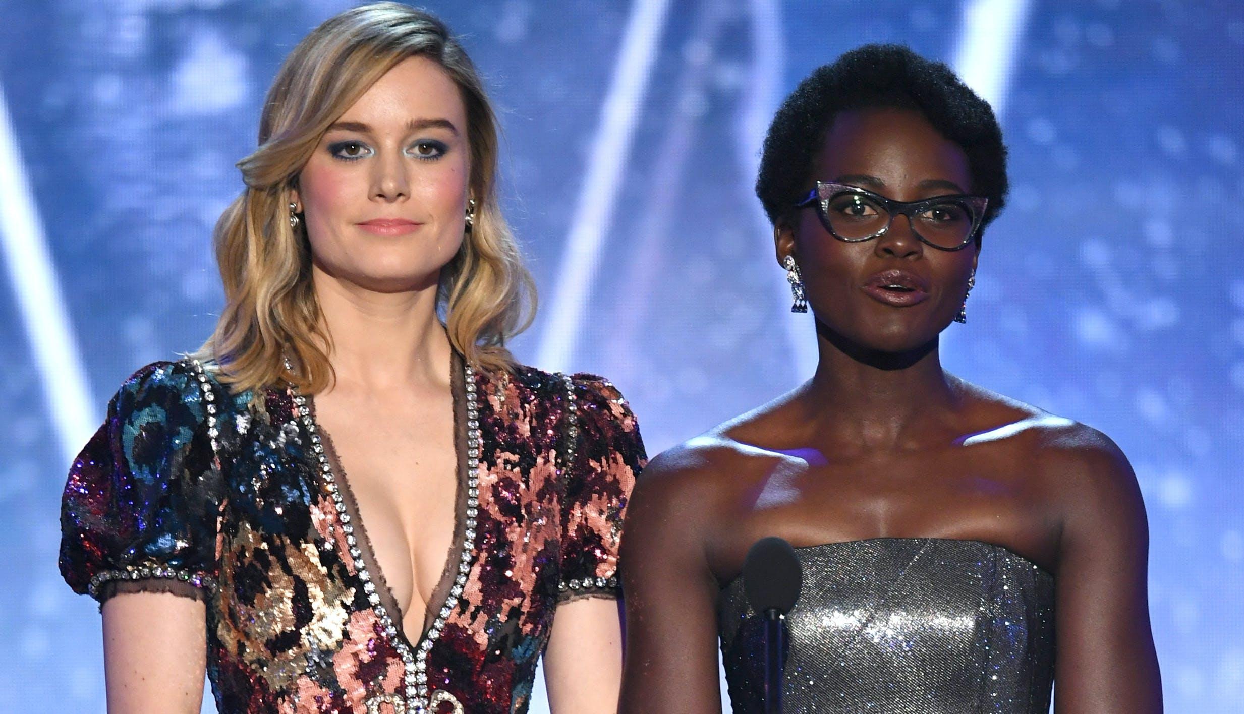 Brie Larson Lupita Nyongo SAG Awards