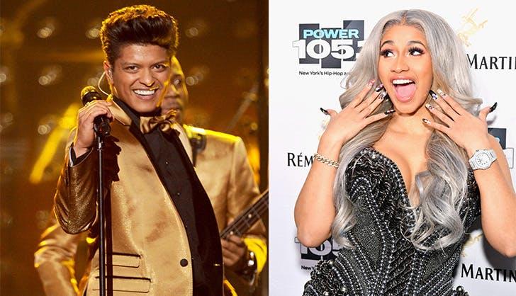 Bruno Mars Cardi B 2018 Grammys