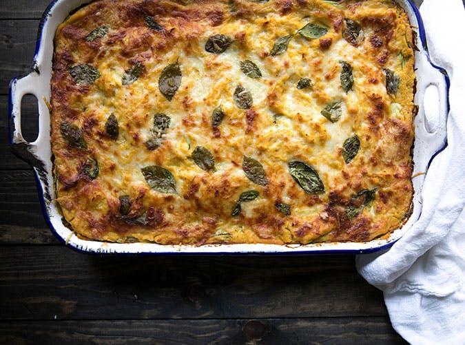 Butternut Squash  Zucchini and Spinach Lasagna Recipe