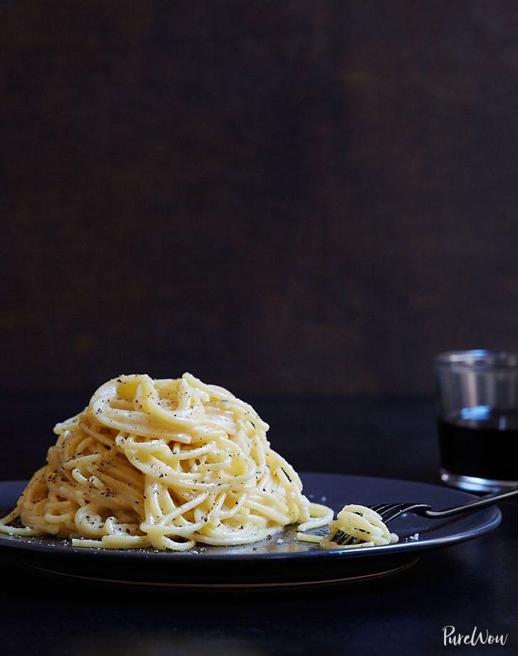 Cacio e pepe pasta for Valentines day