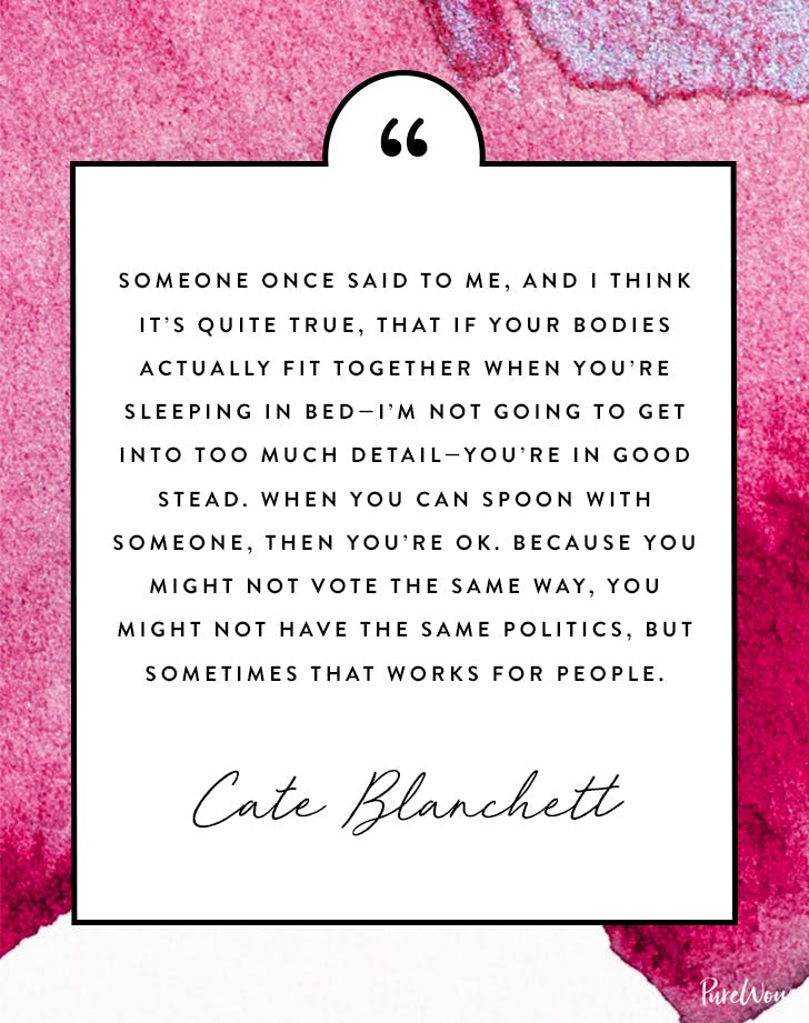 Cate Blanchett quote about spooning