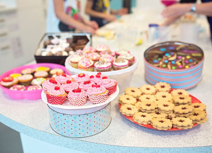 Charity fundraiser bake sale