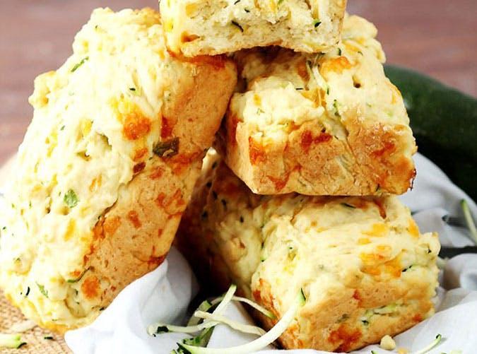 Cheesy Garlic Zucchini Bread Recipe