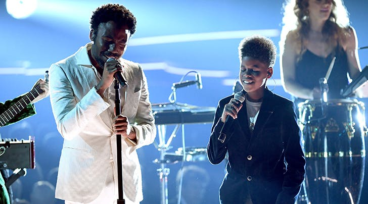 Wait, Who Was Childish Gambino's Talented Little Friend at the Grammys?