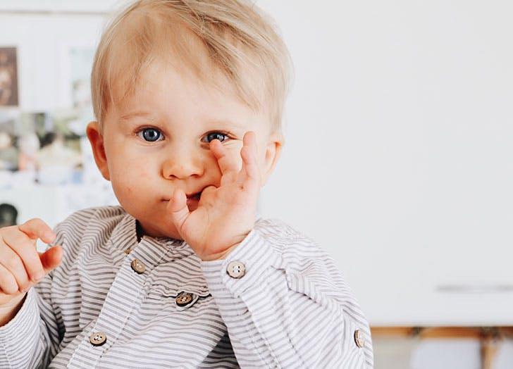 Cute Norwegian baby boy