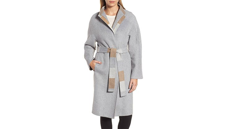 DKNY Wool Wrap Coat