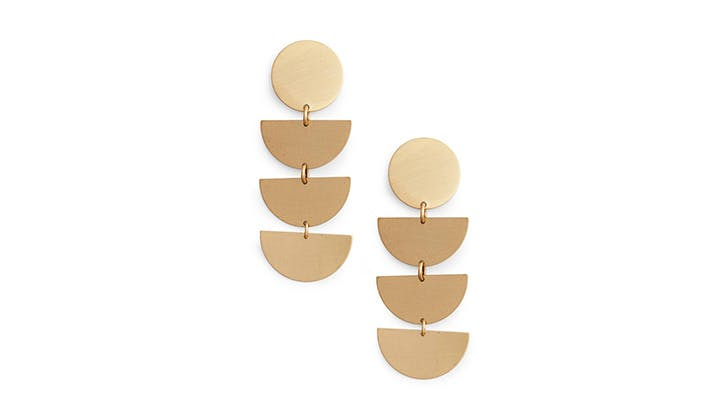 David Aubrey half moon earrings