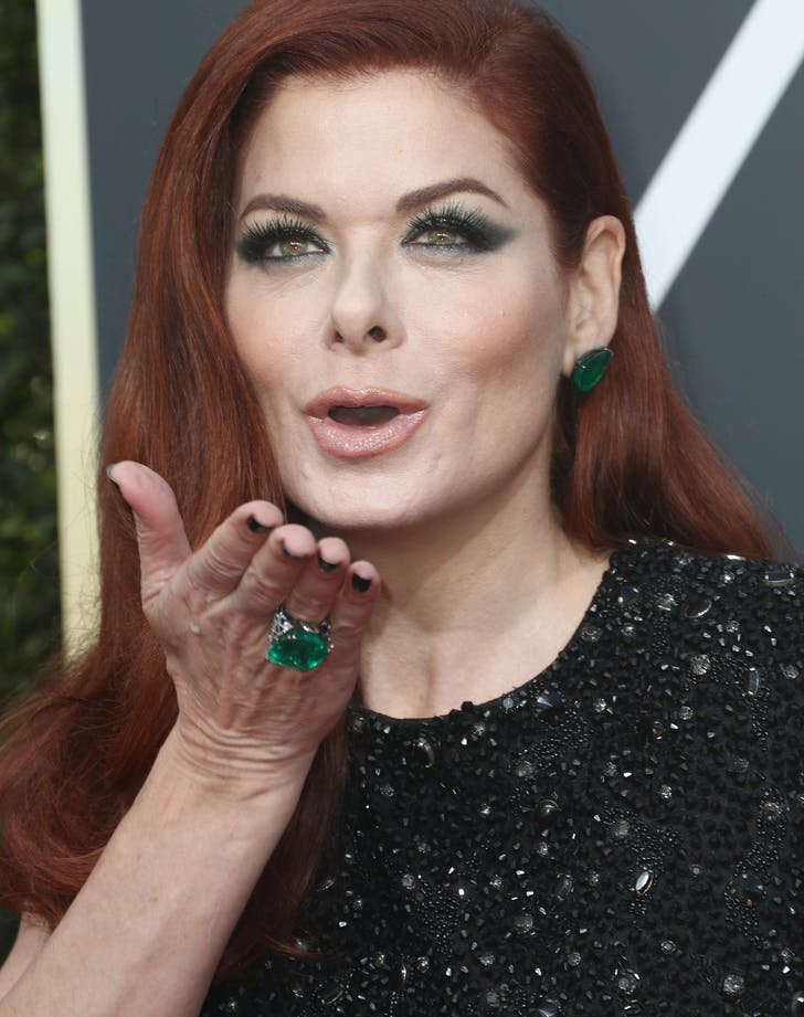 Debra Messing Golden Globes 2018