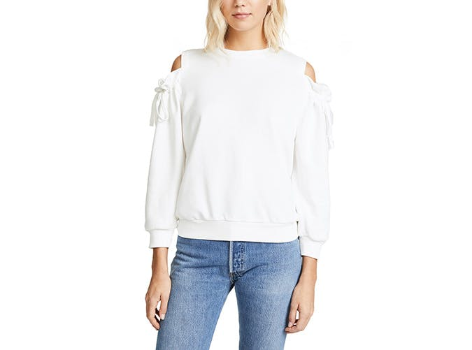 EVIDNT cold shoulder sweater