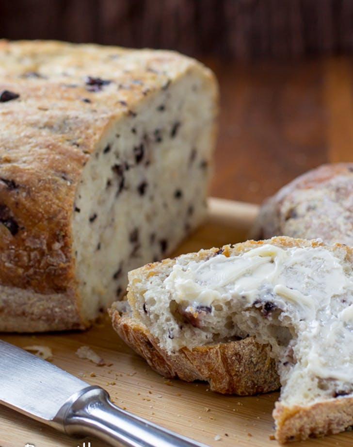 Easy Slow Cooker Olive Parmesan Bread easy bread recipes