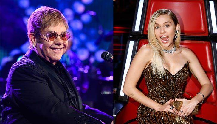 Elton John Miley Cyrus 2018 Grammys