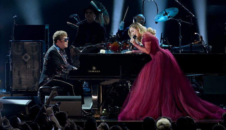 Elton John Miley Cyrus grammys