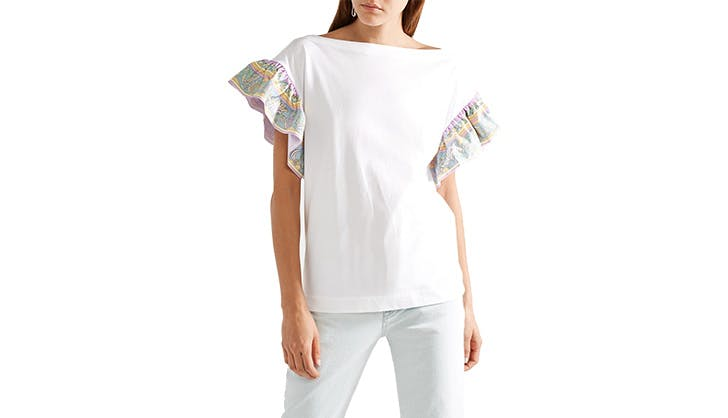 Emilio Pucci Ruffled Shoulders Blouse