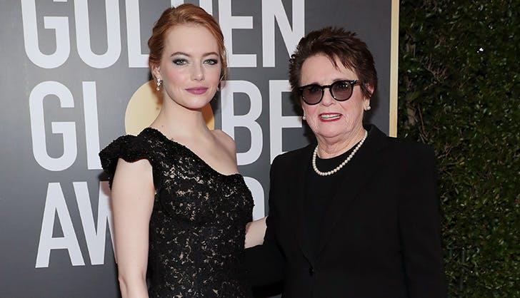 Emma Stone Billie Jean King Golden Globes