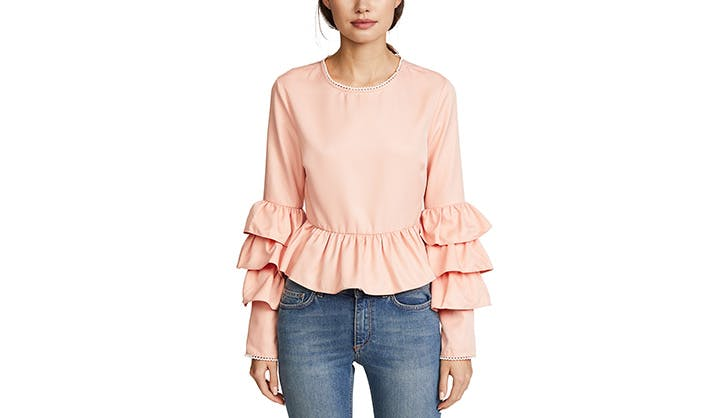 Endless Rose Ruffled Sleeves Top