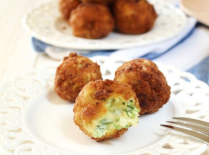 Feta and Zucchini Fritters Recipe