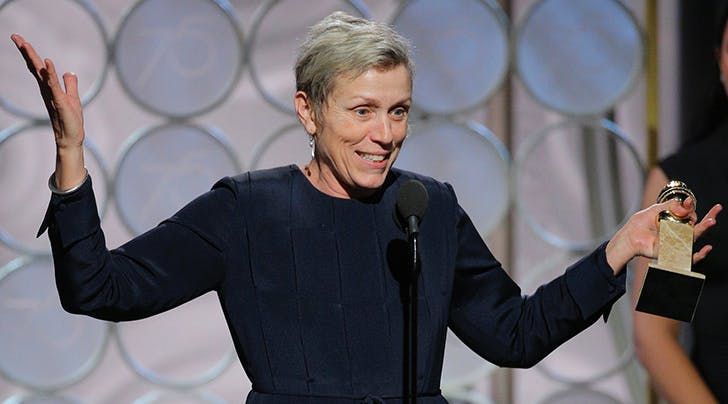 Golden Globes 2018: Frances McDormand Honored with Coveted Best Actress in a Drama
